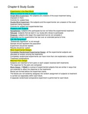 Elementary Statistics  Study Guide