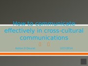 How to communicate effectively in cross-cultural communications