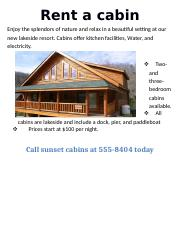 Rent a cabin.docx
