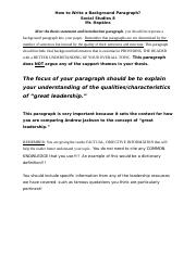 How to Write a Background Paragraph.doc