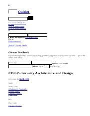 CISSP - Security Architecture and Design flashcards _ Quizlet.html