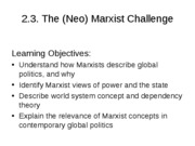 Lecture 4 - MARXISM
