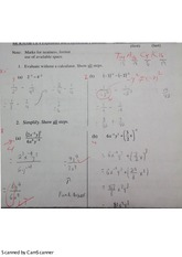 CH4 Exponents & Exponential Functions Quiz