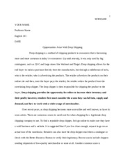 ENG101 ESSAY ON DROPSHIPPING FINAL COPY Informative Essay Sakai