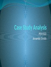 PSY 322 Week 5 Individual Assignment Case Study Analysis(UOP Course)