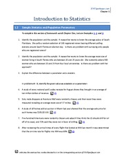 Chapter 1 Homework Solution on Introduction to Statistics