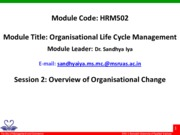 HRM502_2_Overview of Organisational Change