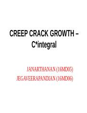 16MD05 - DFA -CREEP CRACK