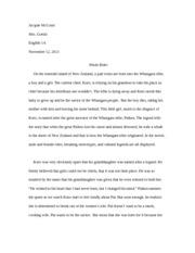 whale rider serratos priscila serratos professor cheatham  4 pages whale rider