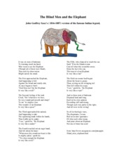 Chapter 1 - Blind Men and Elephant Poem