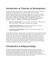Introduction to Theories of Development.docx