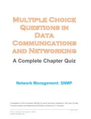 Network Security pdf - A Complete Chapter Quiz Network Security