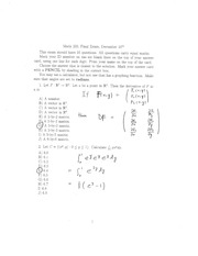 Final Exam Solutions Fall 2010
