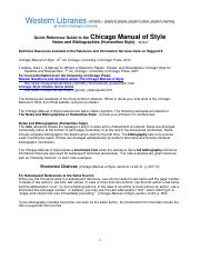 Chicago Manual of Style Guide