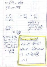 Notes on Composite Functions using Exponent Laws