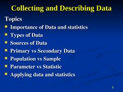 Collecting and Describing Data 1 Revised