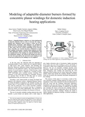 Modeling of adaptable-diameter burners formed by