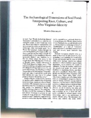 Franklin_The archaeological dimensions of Soul Food