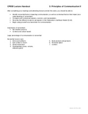 Notes Lecture 3 Handout - Principles of Communication II