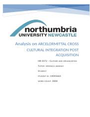 Analysis on ARCELORMITTAL CROSS CULTURAL INTEGRATION POST ACQUISITION.docx