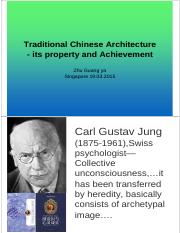 Traditional Chinese Architecture - its property and Achievement