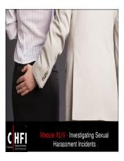 CHFI v4 Module 44 Investigating Sexual Harassment Incidents