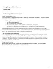 Manage budget finance plans 2 (2).docx