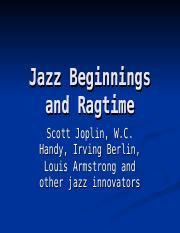 MHL 155 - Ragtime, Blues and jazz beginnings(OER)