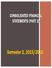 Lecture 2- Consolidated Financial Statements (Part 2)