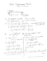 MATH 1014 Supplementary Test 1