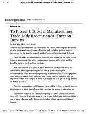 16a To Protect U.S. Solar Manufacturing, Trade Body Recommends Limits on Imports.pdf