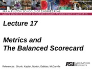IEE 431-541 Lecture 17 Metrics and the Balanced Scorecard(1)