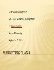 Marketing Plan 4
