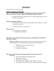 Psyc 445 Study Guide 4 a