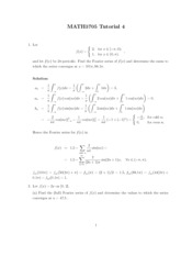 MATH 3705 - Tutorial 4 Solutions