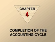 Completetion of the Accounting Cycle