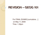 REVISION GEOG 101