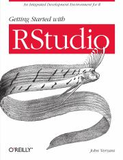 2011. Getting Started with Rstudio