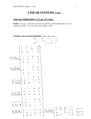 2 - Gaussian Elimination