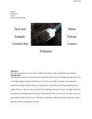 Soil and Water Sample