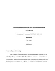 Compounding and Discounting in Capital Investment and BudgetingU2DB2