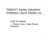 Cost of Capital III -- Case Soluation
