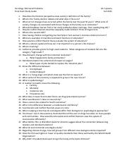 Final Exam Study Guide Sociology 104
