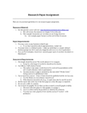 Short Research Paper Guidelines