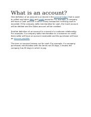 What is an account.docx