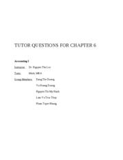 TUTOR QUESTIONS FOR CHAPTER 6