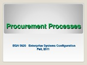 EGN_5620_Enterprise_Sys_Procurement Process Fall 2011