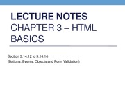 Lecture Notes HTML Forms (3.14.12-3.14.16 Button, Objects and Form Validation)