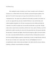 Okonkwo one minute essay