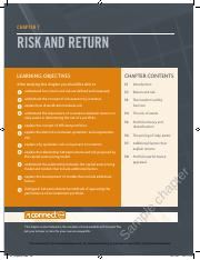Business Finance, 11e Chapter 7 Risk